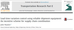 مقاله ترجمه شده کنترل تغییرات زمان تحویل با استفاده از تجهیزات حمل و نقل معتبر: یک طرح انگیزشی برای هماهنگی زنجیره تامین