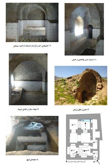 مطالعه، آسیب شناسی، طرح مرمت و احیاء حمام روستای فارسیان گالیکش